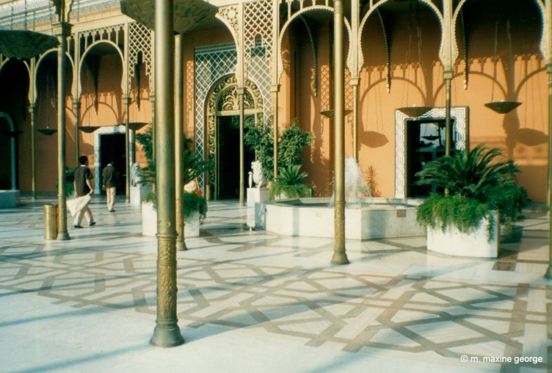 The Cairo Marriot Hotel 1988 entrance