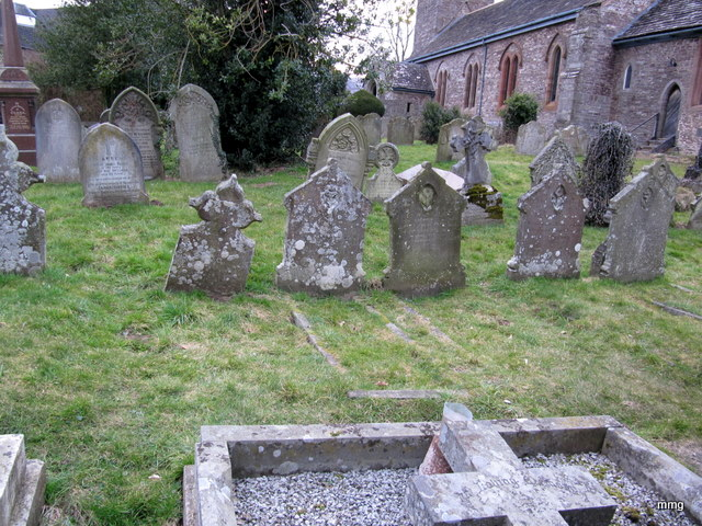 The grave of Fanny Price is third from the right, front row in Abergavenny churchyard. Photo by M. Maxine George