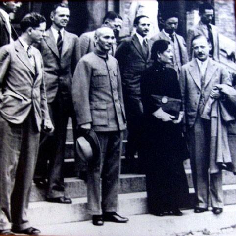 Generallisimo Chaing Kai Chek and Madame Chaing Kai Chek - circa 1937.
