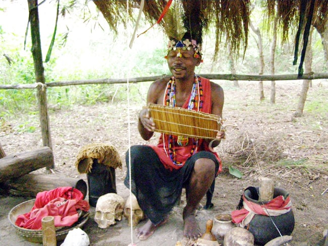A witch doctor in the Ngomongo Villages, near Mombasa, Kenya Photo by Robert Scheer