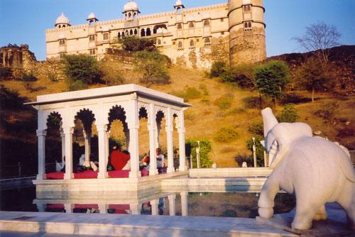 View of Karni Fort in Bambora, India
