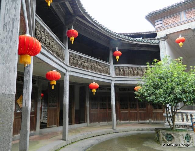 Visiting a Tulou in Yongding China lanterns