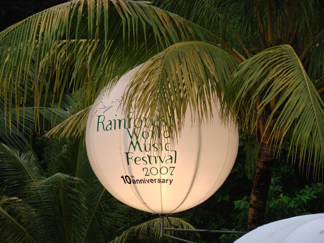 Rainforest World Music Festival celebrated its 10th Anniversary in 2007 Sarawak, Malaysia. Photo by M. Maxine George