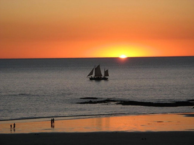 A serene sunset at Cable Beach, Broome. Photo courtesy of Heather and Barry Minton