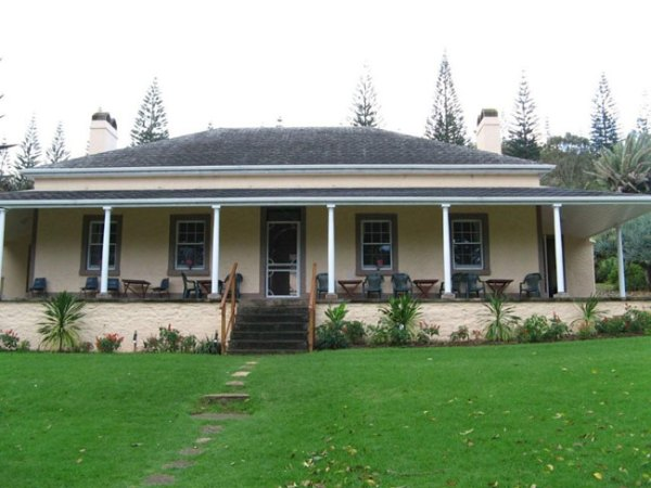 House at a Quality Row, Norfolk Island. Picture courtesy of Barry and Heather Minton
