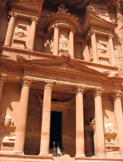 The Treasury at Petra. Probably the most photographed building in Jordan. Picture by Margaret Deefholts