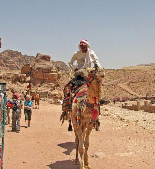 Camel rider at Petra, Jordan