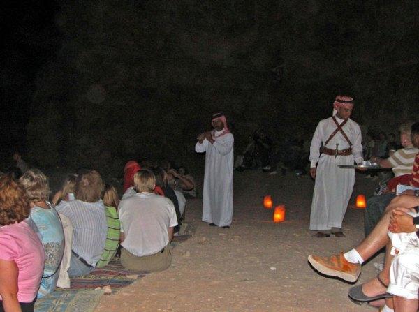 Candle lit visit to Petra, Jordan. Photo by Margaret Deefholts
