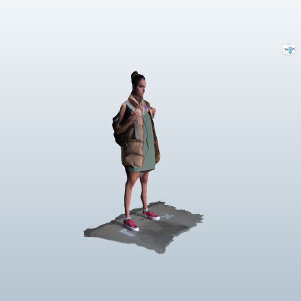 3d scan fashion model by Jakob Kok