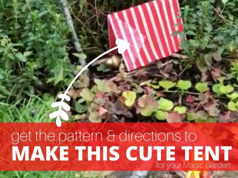 How to make a tent for your Magic Garden fabric red tent in Camping Magic Garden