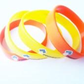 Силиконовый браслет Роснефть. Отпечатан шелкографией в 3 цвета.