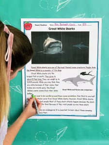 Julie Bochese modeling Common Core Reading