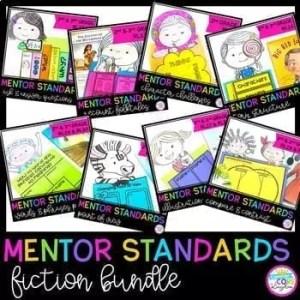 Mentor Text Standards Based Units Fiction Bundle 2nd & 3rd Grade