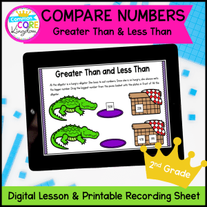 Compare Numbers: Greater Than & Less Than Mini Lessons Google Slides Distance Learning 2nd Grade