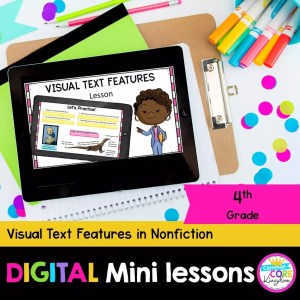 Visual Text Features in Nonfiction Digital Lesson in Google & Seesaw Format
