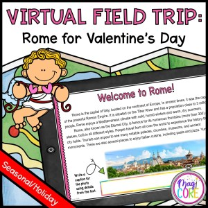 Virtual Field Trip to Rome for Valentine's Day - Google Slides & Seesaw