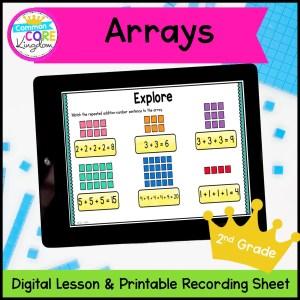 Arrays Digital Math Mini Lesson in Google Slides