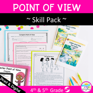 Point of View Skill Pack for 4th & 5th Grade RL.4.6 & RL.5.6
