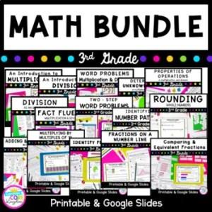 3rd Grade Math Growing Bundle