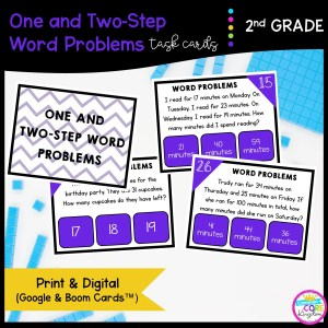 One & Two-Step Word Problems in Google Slides & Boom Task Cards Format