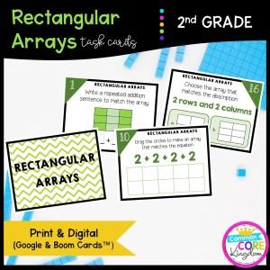 Rectangular Arrays - Google Slides & Boom Task Cards for Distance Learning