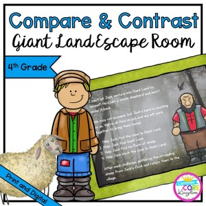 Compare & Contrast - Giant Land Escape Room for 4th Grade in Digital & Printable Format