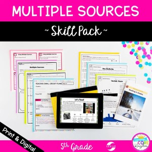 Multiple Sources in Nonfiction Skill Pack - RI.5.7 - Print & Digital