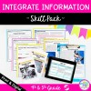 Integrate Information in Nonfiction Skill Pack - RI.4.9 & 5.9 - Print & Digital
