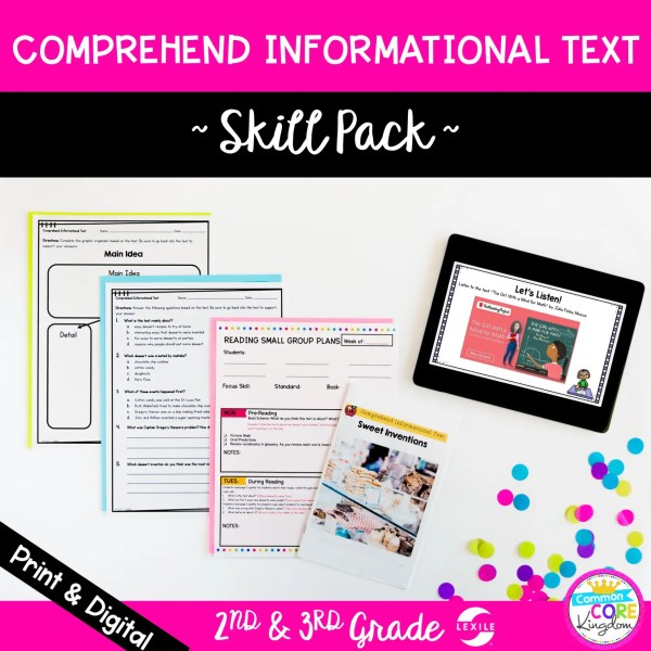 Skill Pack: Comprehend Informational Text - 2nd & 3rd Grade | RI.2.10 RI.3.10 Classroom & Distance Learning