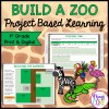 1st Grade Build a Zoo Math Project Based Learning - Printable & Google Slides