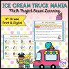Ice Cream Truck Mania: Math Project Based Learning - 4th - Print & Digital