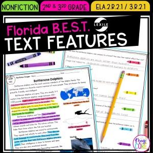 Text Features - 2nd & 3rd Grade Florida BEST Standards - ELA.2.R.2.1 / 3.R.2.1