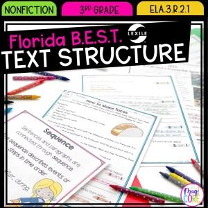 Text Structure - 3rd Grade Florida BEST Standards - ELA.3.R.2.1