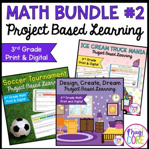 3rd Grade Math Project Based Learning Bundle #2