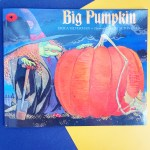 book cover showing a large pumpkin on halloween