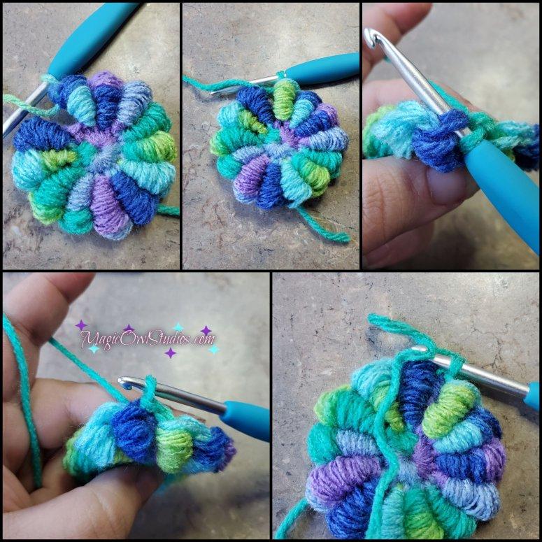 how to make a crochet bullion flower