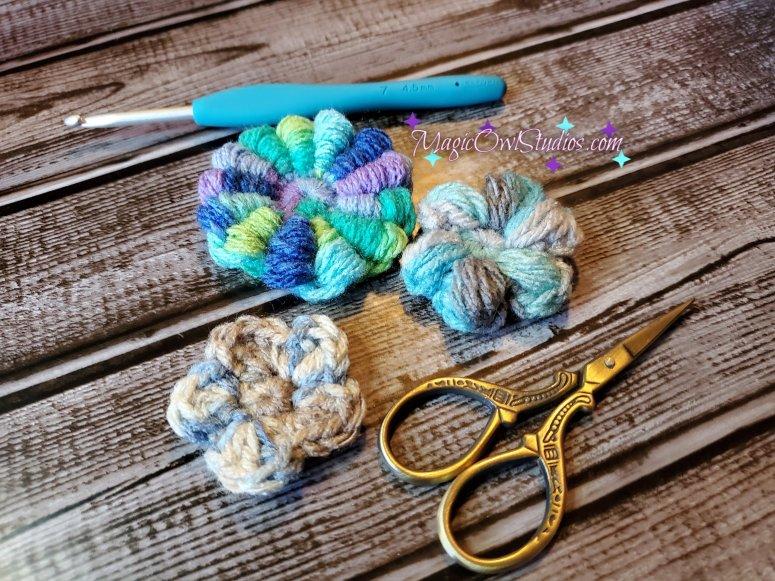 3 crochet flower patterns