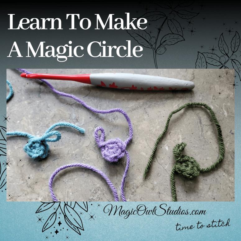 A magic circle crochet