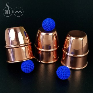 Morrissey Cups & Balls/Chop Cup Combination in copper (LARGE)