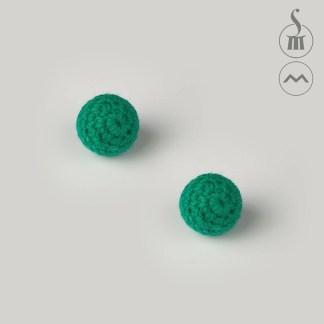 """3/4"""" Morrissey Crocheted Chop Cup Balls - Green"""