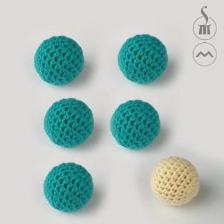 "1"" Morrissey Crocheted Balls - set of 6"