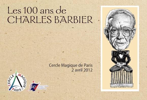 """Carton d'invitation pour """"Les 100 ans de CHARLES BARBIER"""". Conception & réalisation de Richard Martens"""