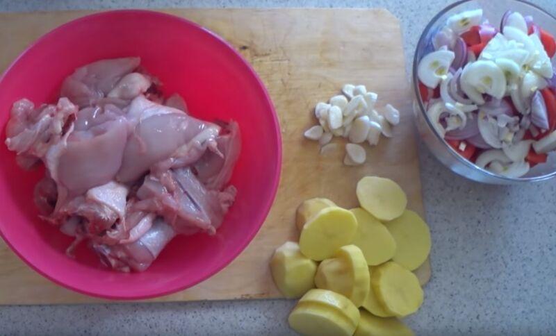курица в духовке с картошкой