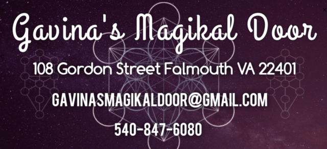 Gavinas Magikal Door Location Fredericksburg vA metaphysical store