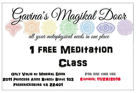 Meditation Thursday Nights at 7:30 PM