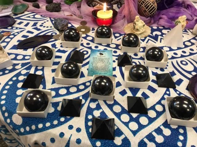 Buy Shungite Orbs Spheres Pyramids Fredericksburg VA Gavina's Magikal Door