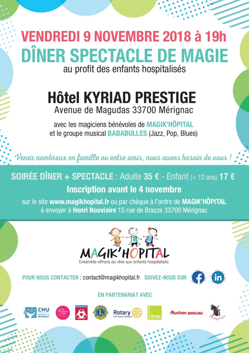 Affiche spectacle magie 9-11-18