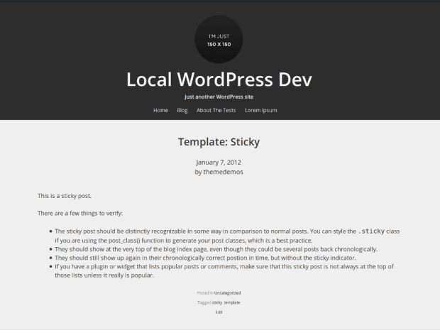 Relativity wordpress theme screenshot