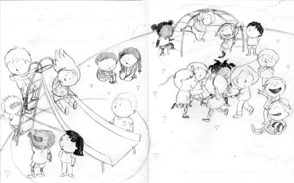 From Ouch Moment, page concept sketch