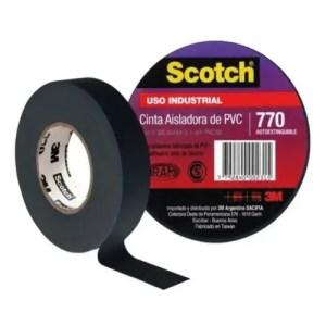 CINTA AISLADORA SCOTCH 770 3M X 20 MTS NEGRA